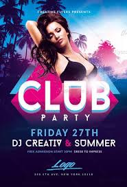 Pictures Of Flyers Summer Club Party Flyer Template Creative Flyers
