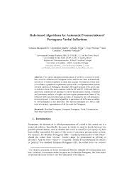 It encompasses all languages spoken on earth. Pdf Rule Based Algorithms For Automatic Pronunciation Of Portuguese Verbal Inflections