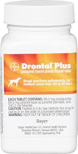 Drontal Feline Dosage Chart Drontal Plus Tablets For Dogs 26 60 Lbs 1 Tablet Chewy Com