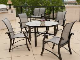chair interesting classic round outdoor table iron leg and rattan patio captivating modern frostedglass dining tables