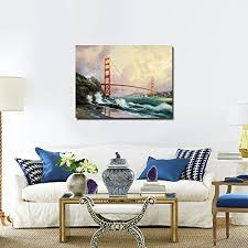 prints for office walls. Golden Gate Bridge Landscape Oil Paintings Canvas Prints Picture For Home Or Office Wall Decoration Easy Walls A