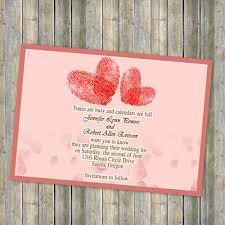 Print Save The Date Cards Red Heart Shaped Finger Print Save The Date Cards Ewstd027 As Low As