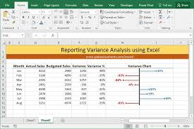 10 Ways To Make Excel Variance Charts How To Pakaccountants Com