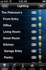 Vantage Home Control app screenshot