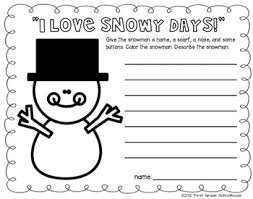 winter writing for first grade winter season activities and winter descriptive writing printable included in winter writing for firsties by first grade schoolhouse first grade