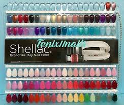 Details About Cnd Shellac Salon Nail Tip Color Chart Palette 102 Display Colors New Limited Ed