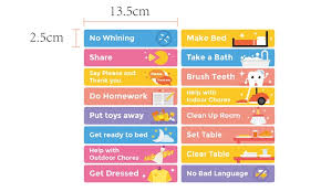 Up To 28 Off On Chore Chart For Kids Magneti Groupon
