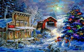 Wallpapers Christmas Scenes [1920x1200 ...