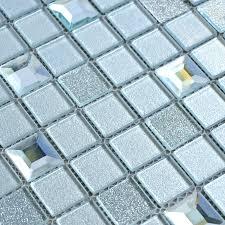 grey crystal glass mosaic tiles washroom backsplash plated design bathroom wall floor mirror tiles