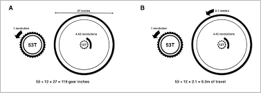 figure 1 converting gear ratios into a gear inches and b roll out
