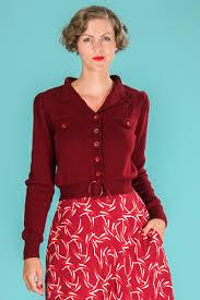 Emmy Design Clothing Emmy Design Jolly Fine 40s Cardi Berry Red