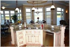Perfect Angled Kitchen Island Ideas Center With Granite Stepped Top Allows On Decor