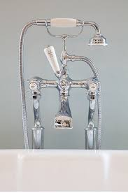 perrin rowe lifestyle: perrin amp rowe  bath shower mixer on standpipes with crosshead handles