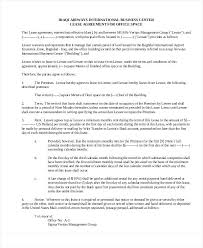 Free Commercial Lease Agreements Forms Printable Office Lease Agreement Template Rent Format In Pakistan