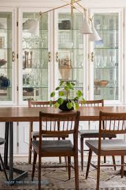 modern formal dining room updates bigger than the three leather upholstered midcentury chairs with black spindle pictures sets round tables square table