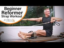 Beginner Pilates Reformer Strap Workout 15 Minutes Youtube