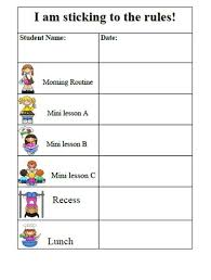 Behavior Chart Template For Home Behavior Chart Template Madinbelgrade