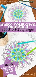 Small Picture Make Your Own Mandala Coloring Pages Coloring Pages