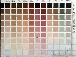 Umber Color Chart Search For Dark Flesh Tones
