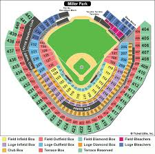 Nationals Tickets Seating Chart Prototypal Miller Park Virtual Seating Milwaukee Brewers