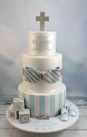 Blue And White Christening Cake Cake By Kake Krumbs Cakesdecor