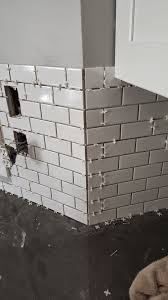 need help with kitchen backsplash on outside corner