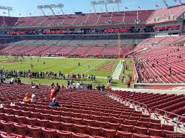 Raymond James Stadium Seating Chart Outback Bowl Raymond James Stadium Section 140 Tampa Bay Buccaneers