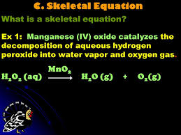 c skeletal equation what is a skeletal equation