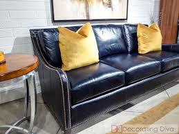 navy blue leather sofa inspirational 25 best blue leather sofa ideas on blue