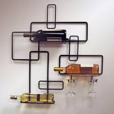 Image of: Modern Wine Rack Iron