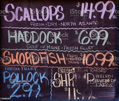 Fish Prices At The Seafood Market ...