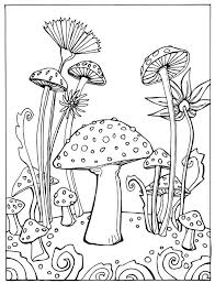 mushroom coloring pages page colouring trees