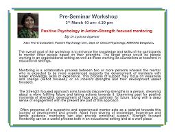 strength based mentoring workshop ms university baroda youth 6e brochure national seminar on positive psychology page 003