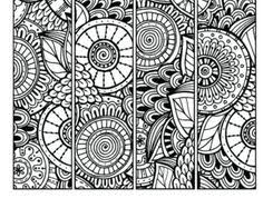Small Picture Pattern Coloring Page Bookmarks this is a printable PDF coloring
