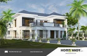 searching for 4bhk modern luxury house plan then here is a ultra modern home design idea from homeinner 4 bedroom plan collection