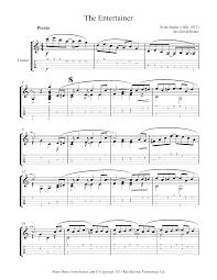 The entertainer guitar solo sheet music joplin. Scott Joplin The Entertainer Sheet Music For Guitar 8notes Com