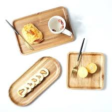 bread serving tray acacia wood tray wooden food party serving tray dinner plate for cake bread