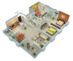 House Plan Design 3d 25 More 3 Bedroom 3d Floor Plans 3d Bedrooms And House  Tips