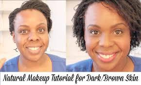 natural makeup tutorial for dark brown skin