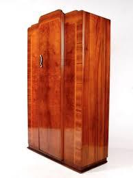 vintage antique furniture wardrobe walnut armoire. Art Deco Wardrobe Fine Quality Figured Walnut Vintage 1930s Photo Antique Furniture Armoire