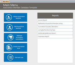 Membership Dues Template Association Management Database Template Association