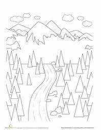 landscape coloring page