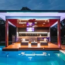 modern outdoor kitchen entertaining area awesome modern landscape lighting design ideas bringing