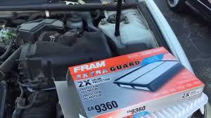 Toyota Camry 2002 2003 2004 2005 2006 air filter replacement DIY ...