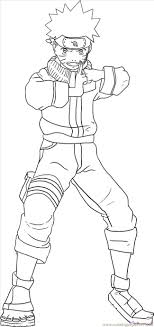 Naruto Color Pages Kakashi Hatake From Coloring Page Free Printable