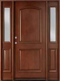 Exterior Door solid exterior door pics : Front Door Custom - Single with 2 Sidelites - Solid Wood with Dark ...