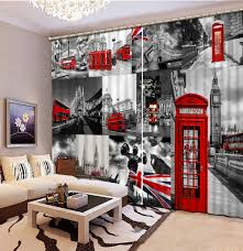 Red Curtains Living Room Online Get Cheap Red Curtains Living Room Aliexpresscom