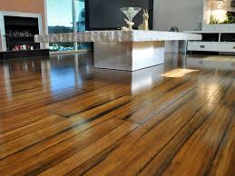 Flooring Ideas, Distressed Strand Woven Bamboo Flooring In Modern Living  Room Design Idea: Get ...