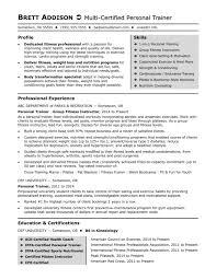 Resume Templats Resume Templates Personal Trainer Sample Monster Com Nutrition Sa 79