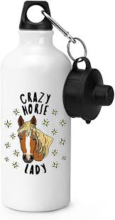 Gift Base <b>Crazy Horse Lady</b> Stars Sports Bottle Water Gym 600ml ...